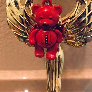 Amsterdam cute teddy bear key chain
